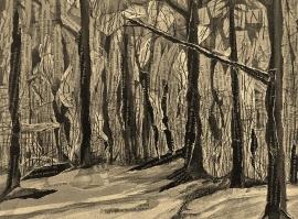 Sepia Detail, Stick Figures